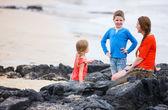 Family at Galapagos — Stock Photo