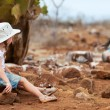 Little girl at Galapagos islands — Stock Photo #19380255