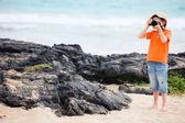 Fotógrafo de naturaleza joven — Foto de Stock