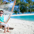 Cute boy in hammock — Stock Photo