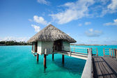 Overwater bungalow — Stock Photo
