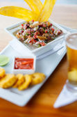 Plate of ceviche — Stock Photo