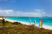 Setkání bay na karibik anguilla — Stock fotografie