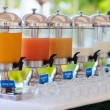 Juice at buffet restaurant — Stock Photo