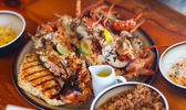Grilled seafood platter — Photo
