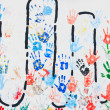 Stock Photo: Colorful hand prints