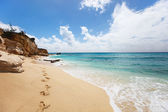 Cupecoy Beach on St Martin Caribbean — Stock Photo