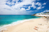 Cupecoy Beach auf St. Martin-Karibik — Stockfoto
