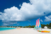 Catamarans at tropical beach — Stock Photo