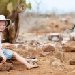 Stock Photo: Little girl at Galapagos islands