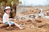Little girl at Galapagos islands — Stock Photo