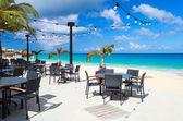 Restaurant at beach — Stock Photo