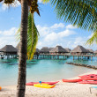 Tropical beach on Moorea island — Stock Photo