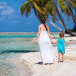 Stock Photo: Mother and daughter on tropical vacation