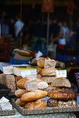 Fresh bread at market — Stock Photo