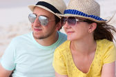 Portrait of a couple at beach — Stock Photo