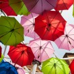 Colorful umbrellas — Stock Photo #30693123