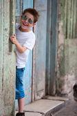 Outdoors boy portrait — Stock Photo