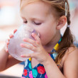 Little girl drinking water — Foto de Stock
