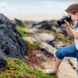 Stock Photo: Young nature photographer