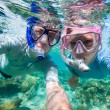 Couple snorkelling — Stock Photo
