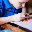 Boy drawing — Lizenzfreies Foto