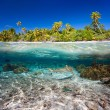 Tropical island under and above water — Stock Photo #35368761
