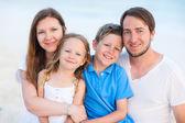 Beautiful family of four — Stock Photo
