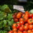 Stock Photo: Herbs and vegetables at market
