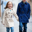 Stock Photo: Kids outdoors in city