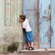 Little boy outdoor in Havana city — Stock Photo