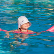 Little girl at swimming pool — Stock Photo #36922237