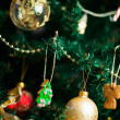 Stock Photo: Gingerbread cookies on Christmas tree