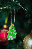 Perník cookie na vánoční stromeček — Stock fotografie