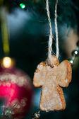 Pepparkakor cookies på julgran — Stockfoto