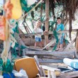 Stock Photo: Kids exploring beach hut