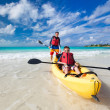 Father and son kayaking — Stock Photo #41401435