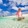Stock Photo: Cute little girl on vacation