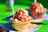 Bahamian conch salad — Stock Photo