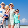 Stock Photo: Family vacation portrait