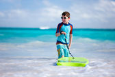 Boy surfing — Stock Photo