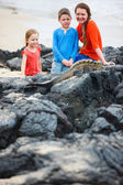 Family at Galapagos — Stock Photo