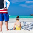 Father and daughter at beach — Stock Photo #44989373