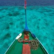 Traditional maldivian boat dhoni — Stock Photo #45773391