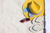 Beach vacation essentials — Stock Photo