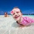 Little girl on vacation — Stock Photo #46566223