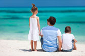 Father and kids on summer vacation — Stock Photo