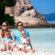 Family with two kids on vacation — Stock Photo #4805157