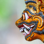 Balinese God statue — Stockfoto #48159063