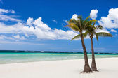 Idyllic tropical beach — Stock Photo